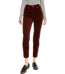 oat high-rise skinny corduroy pants