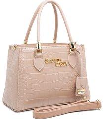 bolsa transversal gouveia costa luxo croco rosa