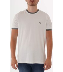 fred perry twin tipped t-shirt - snow white m1588-808