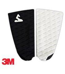 deck antiderrapante prancha surf pro soul fins fita 3m - 14 preto - branco