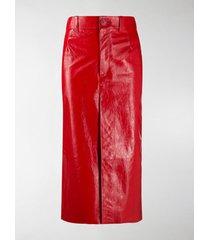 balenciaga high waisted straight skirt