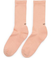 cherry peach' rib cuff tennis socks