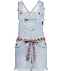 utility dungaree shorts jumpsuit blauw superdry