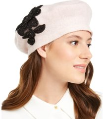 august hats applique melton beret