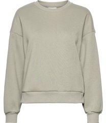 basic sweater sweat-shirt tröja grön gina tricot