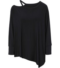 maglia asimmetrica (nero) - bodyflirt