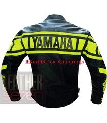 yamaha 0120 fluorescent leather motorcycle motorbike  stylish cowhide  jacket