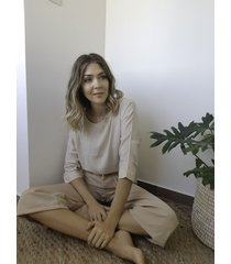 blusa beige  symmetria mihali