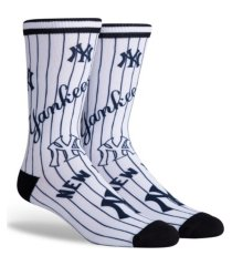 parkway men's new york yankees mix crew socks