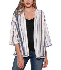 belldini black label striped open cardigan
