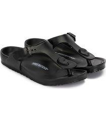 birkenstock thong strap sandals - black