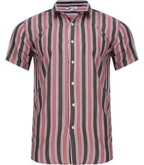 camisa a rayas verticales color rosado, talla l