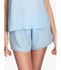 pyjama's / nachthemden ajour pyjamashort forget-me-not lichtblauw