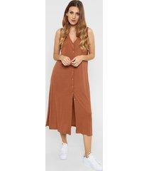 vestido marrón felisa santa teresa