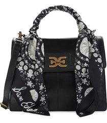 sam edelman women's dottie leather satchel - black