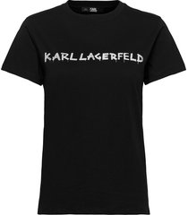 206w1701 t-shirts & tops short-sleeved svart karl lagerfeld