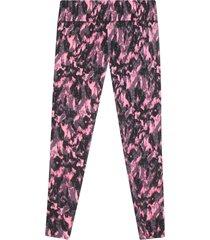 leggings skinny con estampado marmolado color rosado, l