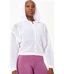 wimbledon mesh zip through hoodie
