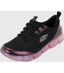 tenis running negro-violeta-rosa skechers air92-wisdompearl