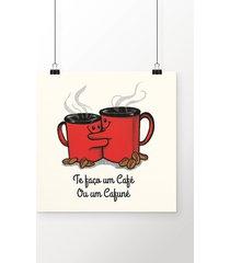 poster café ou cafuné