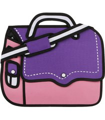 morral grande 1 boton sakurabashi violeta-rosa fight for your right