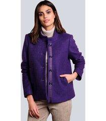 wollen jas alba moda violet