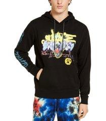 guess men's fleece graphic hoodie