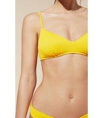 calzedonia elisa padded triangle bikini top woman yellow size 4