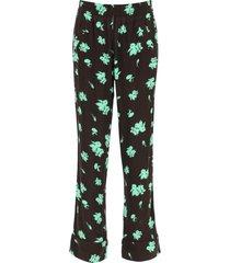 ganni printed pajamas trousers