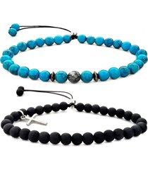 2 braceletes gafeno masculino azul