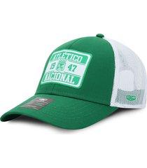 gorra atlético nacional oficial de malla verde y blanco