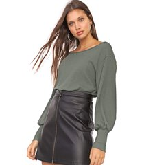 blusa my favorite thing(s) canelada verde