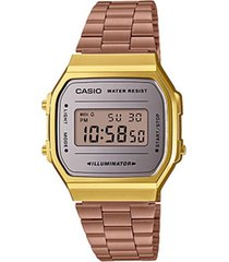reloj casio a_168wecm_5 multicolor acero inoxidable