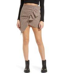 women's amy lynn elizabeth asymmetrical hem ruffle skirt, size large - none
