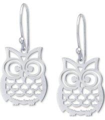 giani bernini owl drop earrings, created for macy's