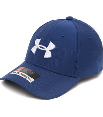 gorra azul-blanco under armour heathered blitzing 3.0-blu