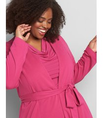 lane bryant women's knit kit belted overpiece 18/20 festival fuchsia