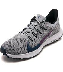 tenis running gris-violeta nike ques 2
