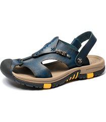 sandali in pelle antiscivolo per esterni protettivi per uomo