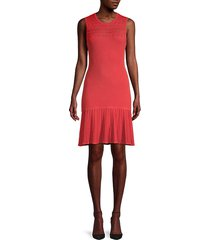 evalina stretch-knit flounce dress