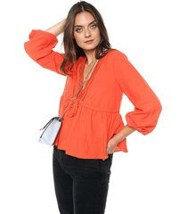 blusa naranja glamorous