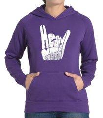 la pop art women's word art hooded sweatshirt -heavy metal