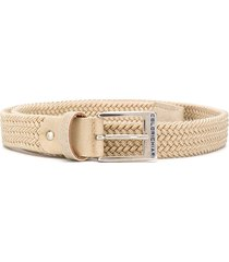 colorichiari woven strap belt - neutrals