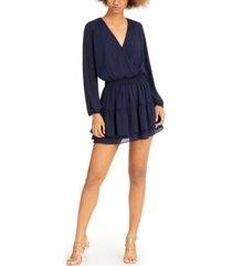 sadie & sage long-sleeve ruffled mini dress