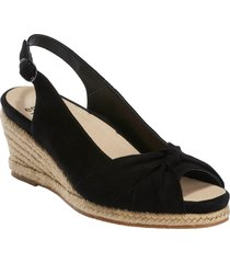 women's earth thara bermuda peep toe wedge sandal