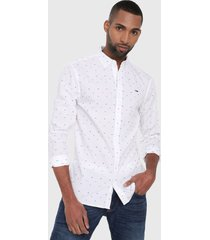 camisa blanco-multicolor tommy jeans