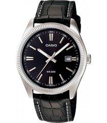 reloj formal plateado/negro casio