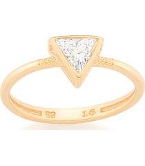 anel bijoulux skinny ring triângulo rommanel tamanho 12
