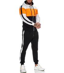 one redox heren joggingpak zwart oranje 1082