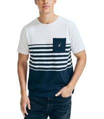 nautica men's colorblocked pocket t-shirt